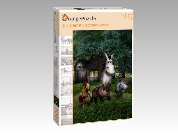 """Puzzle Motiv """"Die Bremer Stadtmusikanten"""" - Puzzle-Schachtel zu 1000 Teile Puzzle"""