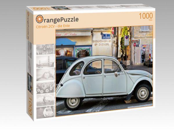 """Puzzle Motiv """"Citroën 2CV - die Ente"""" - Puzzle-Schachtel zu 1000 Teile Puzzle"""