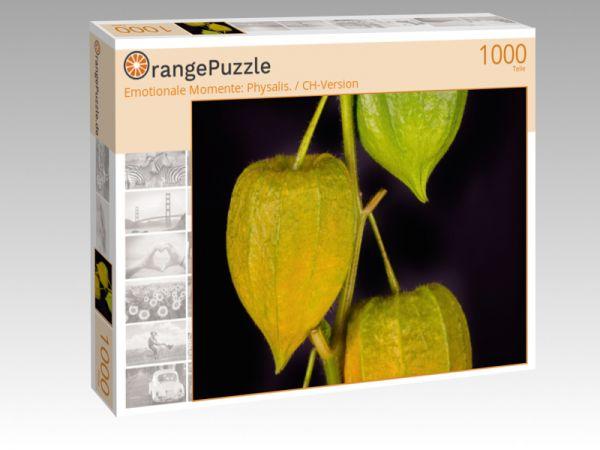 """Puzzle Motiv """"Emotionale Momente: Physalis. / CH-Version"""" - Puzzle-Schachtel zu 1000 Teile Puzzle"""