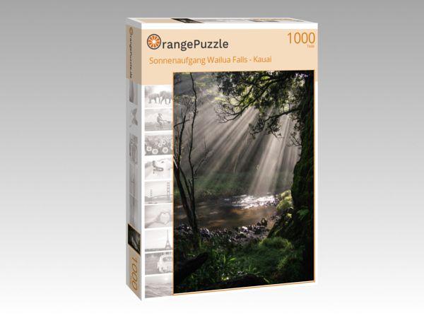 """Puzzle Motiv """"Sonnenaufgang Wailua Falls - Kauai"""" - Puzzle-Schachtel zu 1000 Teile Puzzle"""