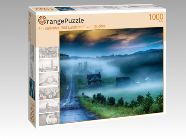 """Puzzle Motiv """"Ein Kalender Bild Landschaft von Quebec"""" - Puzzle-Schachtel zu 1000 Teile Puzzle"""
