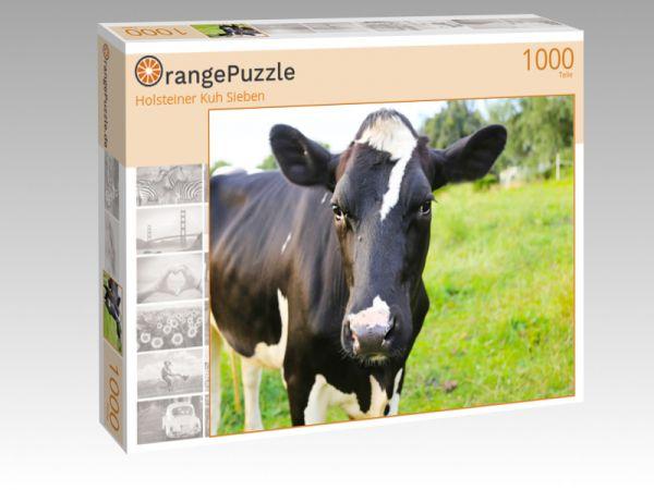 """Puzzle Motiv """"Holsteiner Kuh Sieben"""" - Puzzle-Schachtel zu 1000 Teile Puzzle"""
