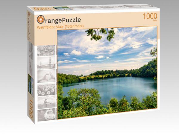 """Puzzle Motiv """"Weinfelder Maar (Totenmaar)"""" - Puzzle-Schachtel zu 1000 Teile Puzzle"""
