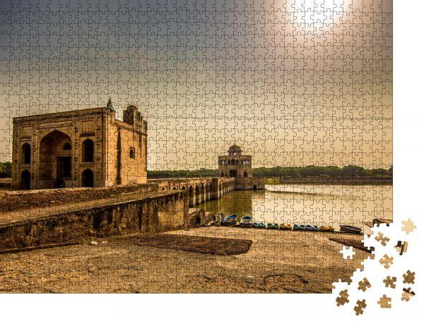 """Puzzle-Motiv """"Park Seitenansicht von Hiran Minar, Sheikhupura, Punjab Pakistan"""" - Puzzle-Schachtel zu 1000 Teile Puzzle"""