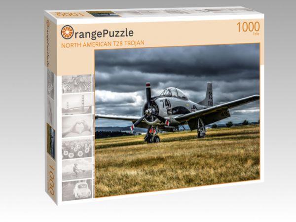 """Puzzle Motiv """"NORTH AMERICAN T28 TROJAN"""" - Puzzle-Schachtel zu 1000 Teile Puzzle"""