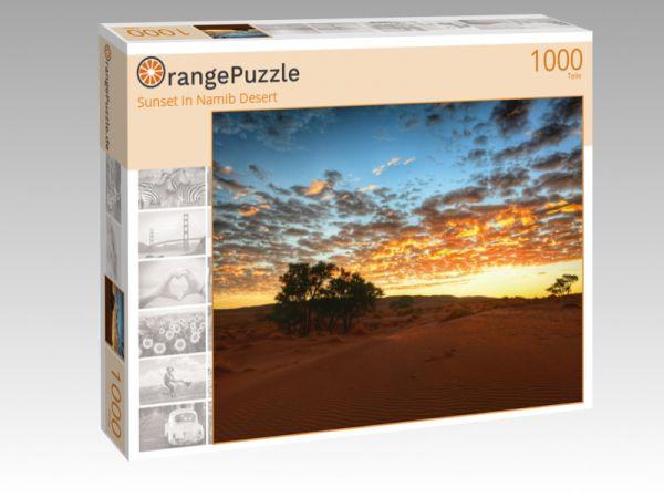 "Puzzle Motiv ""Sunset in Namib Desert"" - Puzzle-Schachtel zu 1000 Teile Puzzle"