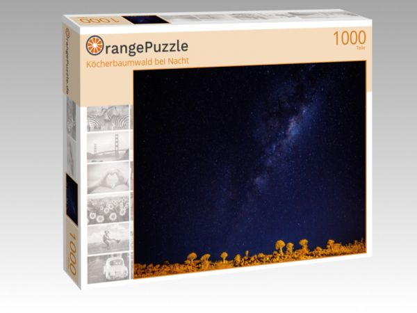 """Puzzle Motiv """"Köcherbaumwald bei Nacht"""" - Puzzle-Schachtel zu 1000 Teile Puzzle"""