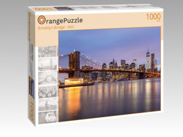 "Puzzle Motiv ""Brooklyn Bridge - NYC"" - Puzzle-Schachtel zu 1000 Teile Puzzle"
