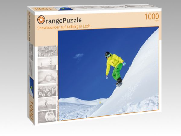 """Puzzle Motiv """"Snowboarder auf Arlberg in Lech"""" - Puzzle-Schachtel zu 1000 Teile Puzzle"""