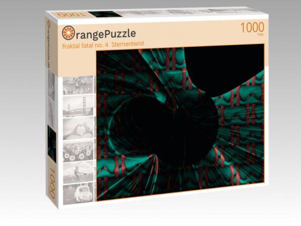 """Puzzle Motiv """"fraktal fatal no. 4  Sternentwist"""" - Puzzle-Schachtel zu 1000 Teile Puzzle"""