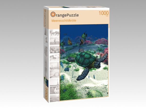 "Puzzle Motiv ""Meeresschildkröte"" - Puzzle-Schachtel zu 1000 Teile Puzzle"