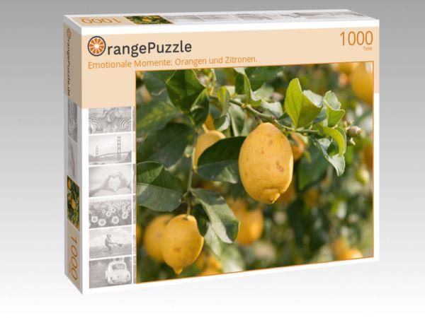 """Puzzle Motiv """"Emotionale Momente: Orangen und Zitronen."""" - Puzzle-Schachtel zu 1000 Teile Puzzle"""
