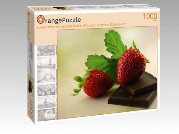 """Puzzle Motiv """"Kulinarisches mit und aus frischen Früchten Schweizer Kalendarium"""" - Puzzle-Schachtel zu 1000 Teile Puzzle"""