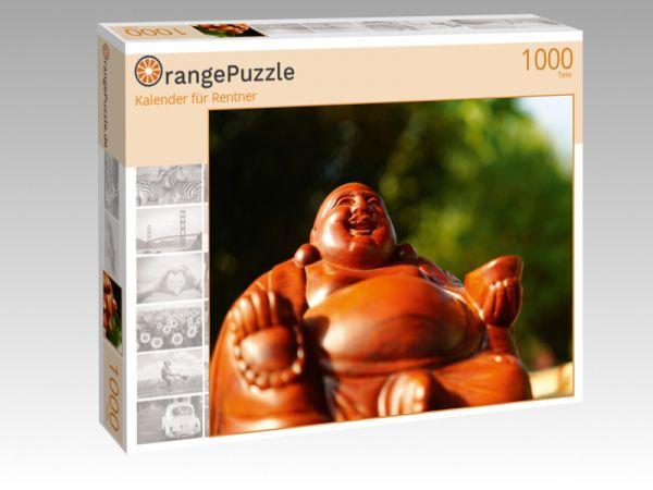 """Puzzle Motiv """"Kalender für Rentner"""" - Puzzle-Schachtel zu 1000 Teile Puzzle"""