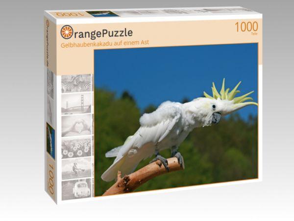 """Puzzle Motiv """"Gelbhaubenkakadu auf einem Ast"""" - Puzzle-Schachtel zu 1000 Teile Puzzle"""