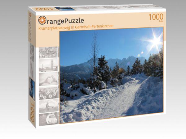 """Puzzle Motiv """"Kramerplateauweg in Garmisch-Partenkirchen"""" - Puzzle-Schachtel zu 1000 Teile Puzzle"""