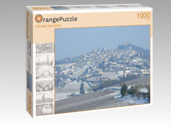 """Puzzle Motiv """"Schnee Sancerre"""" - Puzzle-Schachtel zu 1000 Teile Puzzle"""