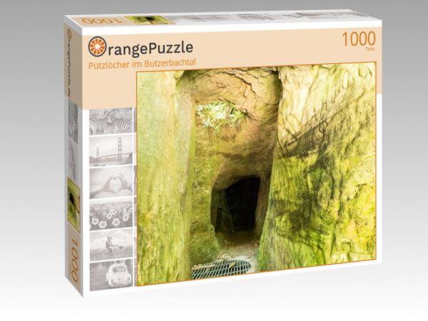 """Puzzle Motiv """"""""Pützlöcher"""" im Butzerbachtal"""" - Puzzle-Schachtel zu 1000 Teile Puzzle"""