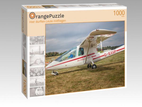 """Puzzle Motiv """"Hier durften Leute mitfliegen"""" - Puzzle-Schachtel zu 1000 Teile Puzzle"""