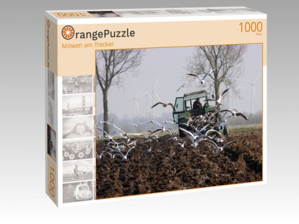 "Puzzle Motiv ""Möwen am Trecker"" - Puzzle-Schachtel zu 1000 Teile Puzzle"