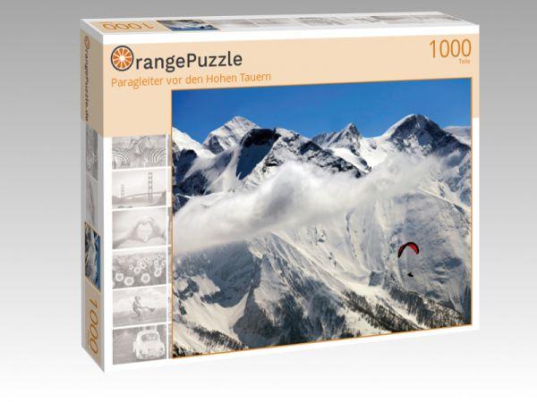 """Puzzle Motiv """"Paragleiter vor den Hohen Tauern"""" - Puzzle-Schachtel zu 1000 Teile Puzzle"""