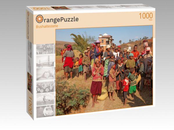 """Puzzle Motiv """"Bushaltestelle"""" - Puzzle-Schachtel zu 1000 Teile Puzzle"""