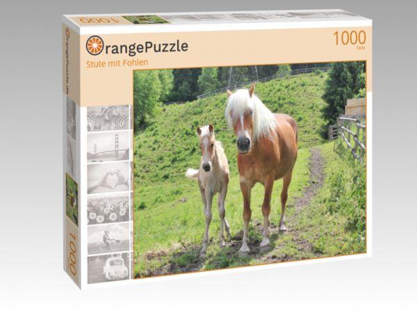 """Puzzle Motiv """"Stute mit Fohlen"""" - Puzzle-Schachtel zu 1000 Teile Puzzle"""