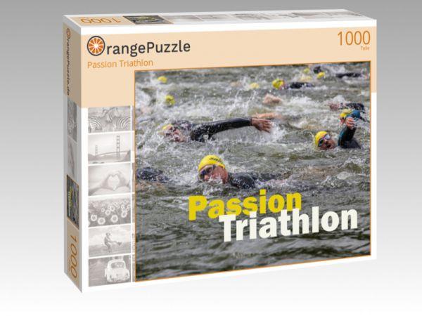 """Puzzle Motiv """"Passion Triathlon"""" - Puzzle-Schachtel zu 1000 Teile Puzzle"""