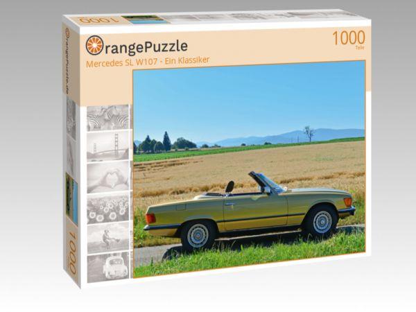"Puzzle Motiv ""Mercedes SL W107 - Ein Klassiker"" - Puzzle-Schachtel zu 1000 Teile Puzzle"