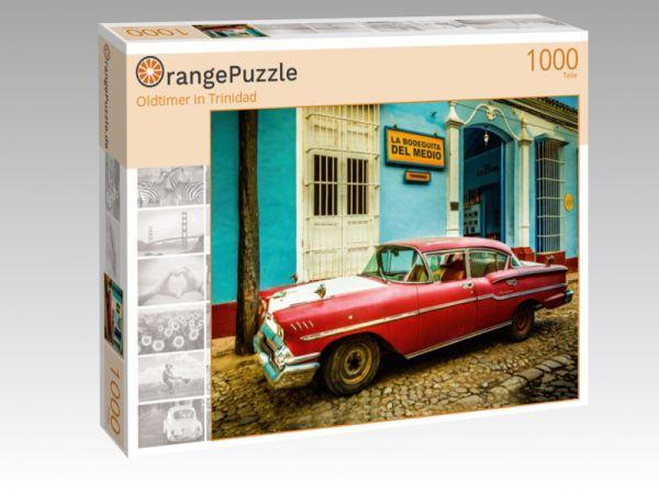 "Puzzle Motiv ""Oldtimer in Trinidad"" - Puzzle-Schachtel zu 1000 Teile Puzzle"