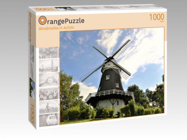 "Puzzle Motiv ""Windmühle in Achim"" - Puzzle-Schachtel zu 1000 Teile Puzzle"