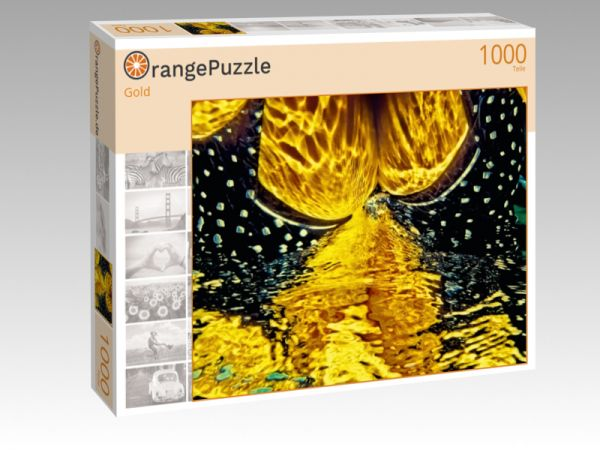 """Puzzle Motiv """"Gold"""" - Puzzle-Schachtel zu 1000 Teile Puzzle"""