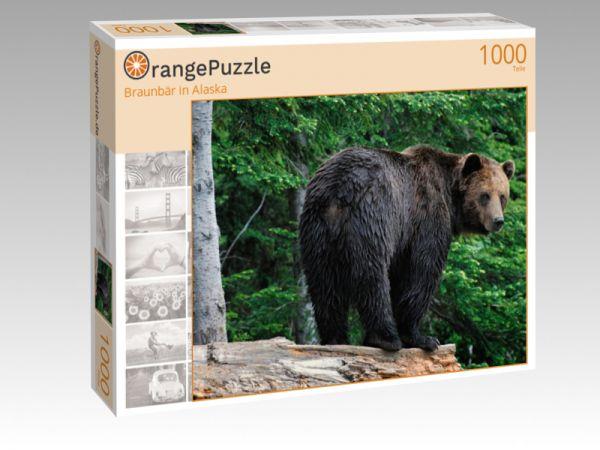 "Puzzle Motiv ""Braunbär in Alaska"" - Puzzle-Schachtel zu 1000 Teile Puzzle"