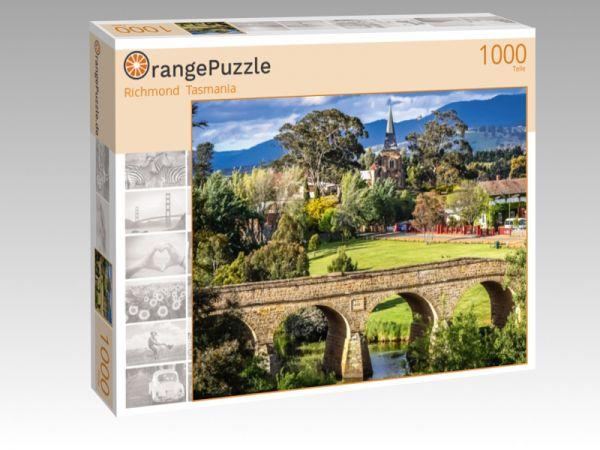 """Puzzle Motiv """"Richmond  Tasmania"""" - Puzzle-Schachtel zu 1000 Teile Puzzle"""