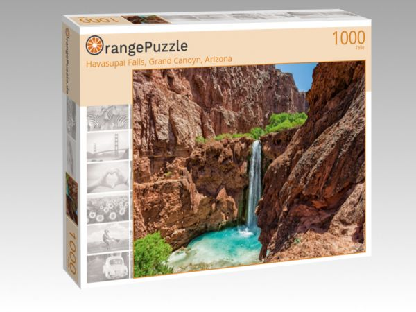 "Puzzle Motiv ""Havasupai Falls, Grand Canoyn, Arizona"" - Puzzle-Schachtel zu 1000 Teile Puzzle"