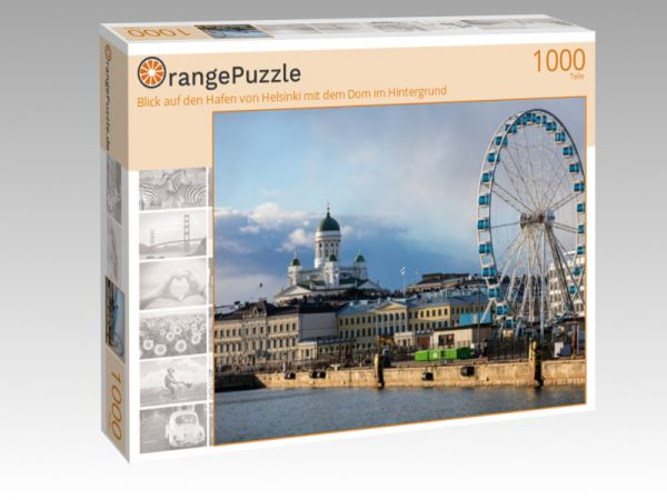 """Puzzle Motiv """"Blick auf den Hafen von Helsinki mit dem Dom im Hintergrund"""" - Puzzle-Schachtel zu 1000 Teile Puzzle"""