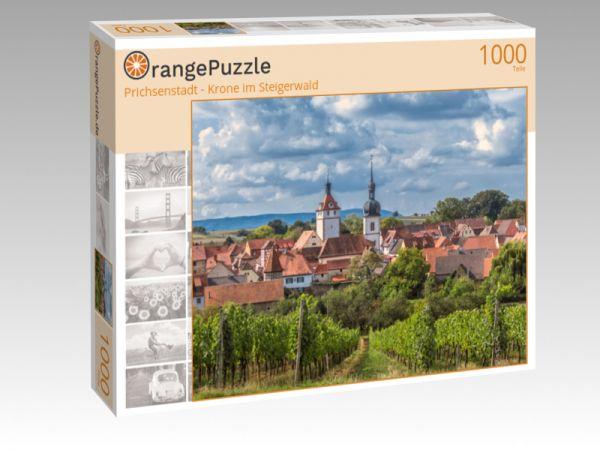 """Puzzle Motiv """"Prichsenstadt - Krone im Steigerwald"""" - Puzzle-Schachtel zu 1000 Teile Puzzle"""