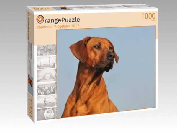 "Puzzle Motiv ""Rhodesian Ridgeback 2017"" - Puzzle-Schachtel zu 1000 Teile Puzzle"