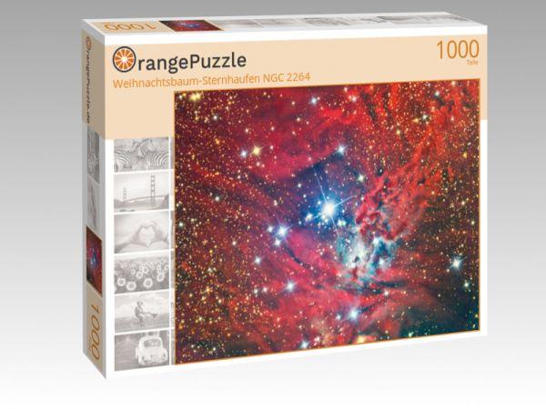 """Puzzle Motiv """"Weihnachtsbaum-Sternhaufen NGC 2264"""" - Puzzle-Schachtel zu 1000 Teile Puzzle"""