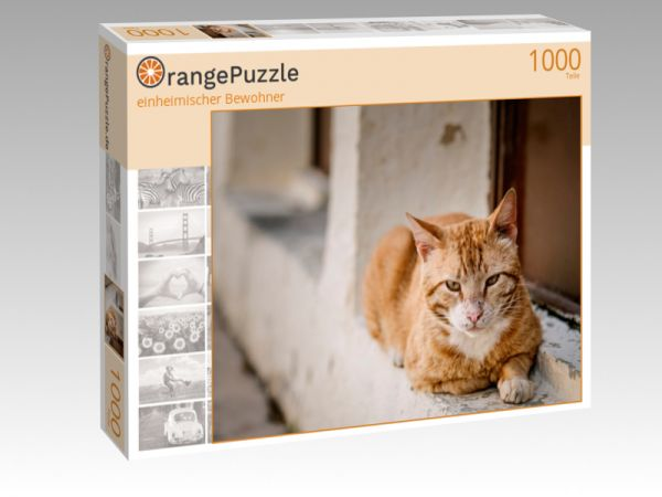 """Puzzle Motiv """"einheimischer Bewohner"""" - Puzzle-Schachtel zu 1000 Teile Puzzle"""