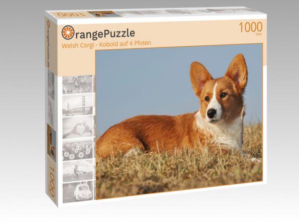 """Puzzle Motiv """"Welsh Corgi - Kobold auf 4 Pfoten"""" - Puzzle-Schachtel zu 1000 Teile Puzzle"""