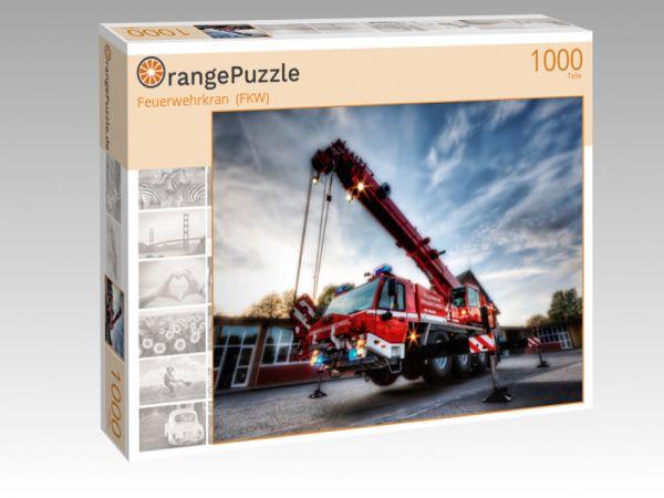 """Puzzle Motiv """"Feuerwehrkran  (FKW)"""" - Puzzle-Schachtel zu 1000 Teile Puzzle"""