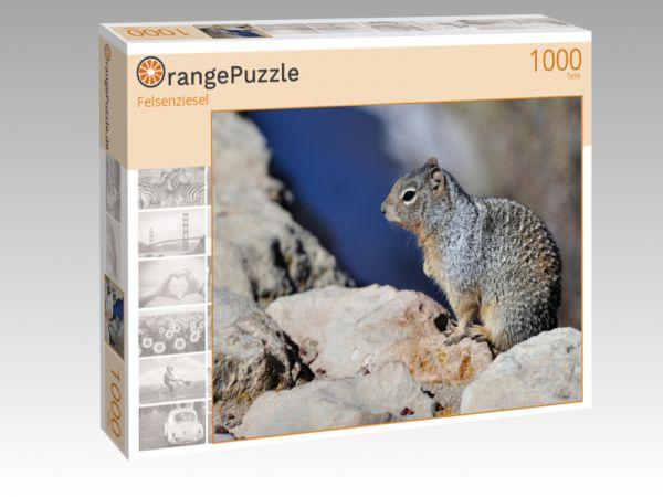 """Puzzle Motiv """"Felsenziesel"""" - Puzzle-Schachtel zu 1000 Teile Puzzle"""