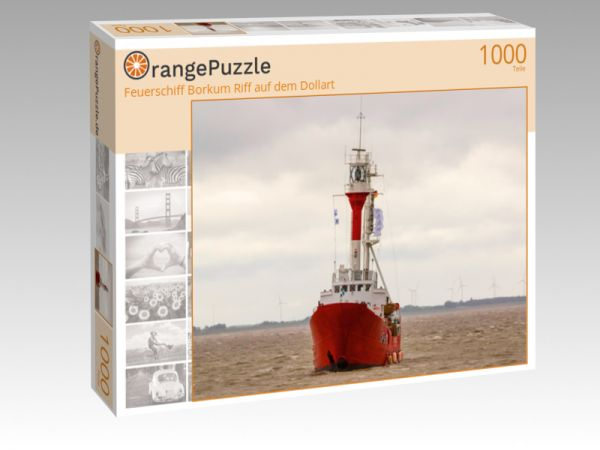 """Puzzle Motiv """"Feuerschiff Borkum Riff auf dem Dollart"""" - Puzzle-Schachtel zu 1000 Teile Puzzle"""