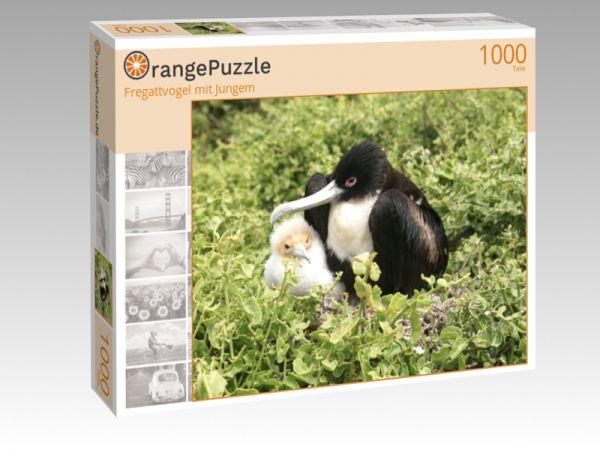 "Puzzle Motiv ""Fregattvogel mit Jungem"" - Puzzle-Schachtel zu 1000 Teile Puzzle"