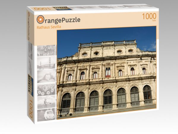 """Puzzle Motiv """"Rathaus Sevilla"""" - Puzzle-Schachtel zu 1000 Teile Puzzle"""