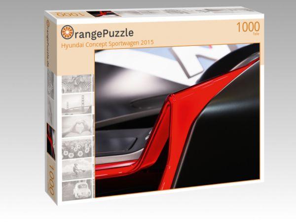 """Puzzle Motiv """"Hyundai Concept Sportwagen 2015"""" - Puzzle-Schachtel zu 1000 Teile Puzzle"""