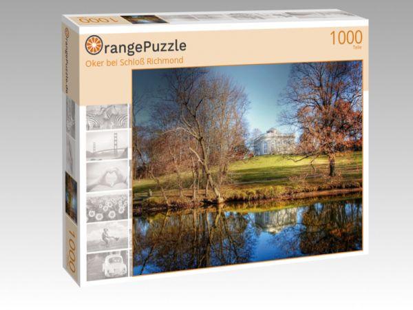 """Puzzle Motiv """"Oker bei Schloß Richmond"""" - Puzzle-Schachtel zu 1000 Teile Puzzle"""