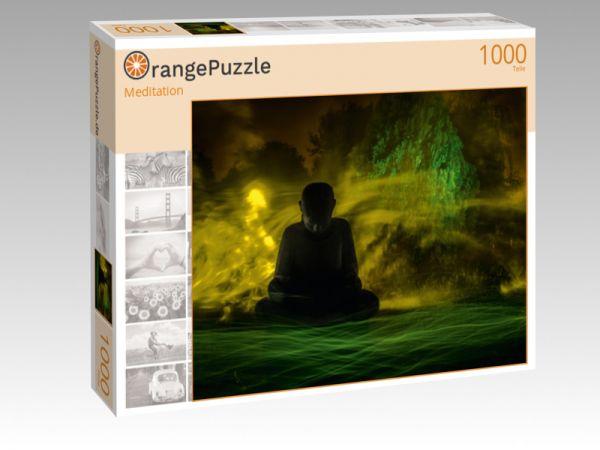 """Puzzle Motiv """"Meditation"""" - Puzzle-Schachtel zu 1000 Teile Puzzle"""