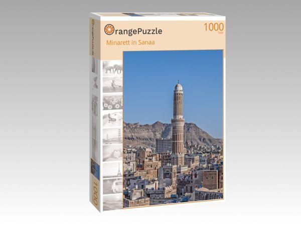 """Puzzle Motiv """"Minarett in Sanaa"""" - Puzzle-Schachtel zu 1000 Teile Puzzle"""
